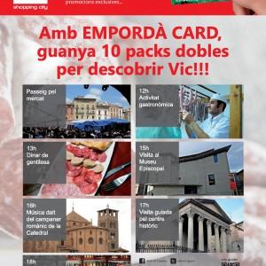 COMERÇ FIGUERES DONA A CONÈIXER ELS PREMIATS DE LA CAMPANYA CREUADA AMB VIC GRÀCIES A EMPORDÀ CARD