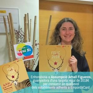 Assumpció Arnall Figueres guanya el premi de 2018 euros gràcies a la Pastisseria Parc Bosch